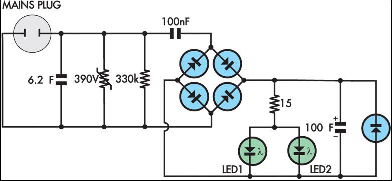 На схеме пару неточностей: 1) Первый конденсатор на 6.2 мкФ, а не на 6.2...