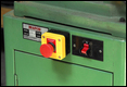 Fitting an emergency 'off' button to workshop machinery